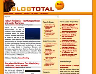 urlaub.blogtotal.de screenshot