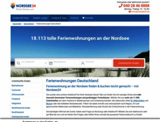 urlaub.nordsee24.de screenshot