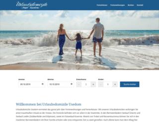 urlaubsdomizile-insel-usedom.de screenshot
