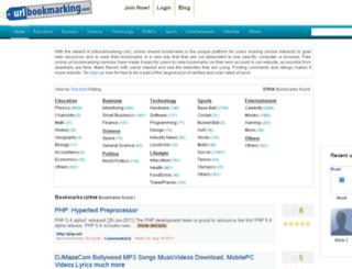 urlbookmarking.com screenshot