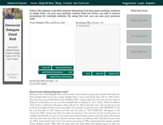 urlopener.visrosoftware.com screenshot
