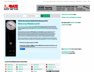 urlrate.com screenshot