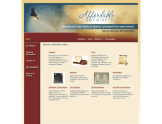 urnsandcaskets.com screenshot