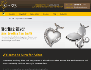 urnsforashesuk.com screenshot