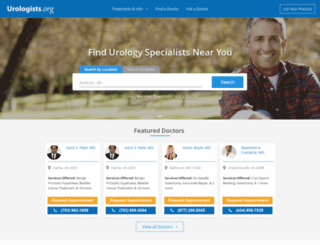 urologists.org screenshot