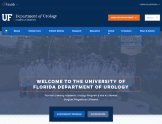 urology.ufl.edu screenshot
