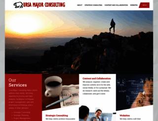 ursamajorconsulting.com screenshot