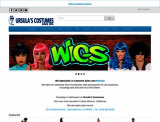ursulascostumes.com screenshot