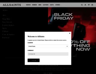 us.allsaints.com screenshot
