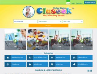 us.claseek.com screenshot
