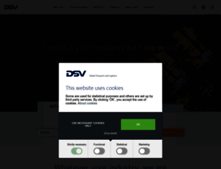 us.dsv.com screenshot