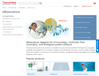 us.ebioscience.com screenshot