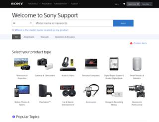 us.en.kb.sony.com screenshot