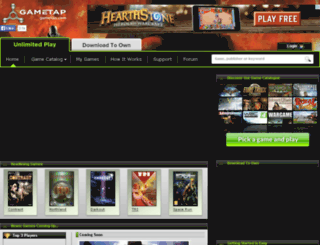 us.gametap.com screenshot