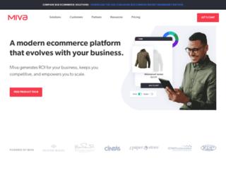 us.miva.com screenshot
