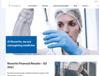 us.novartis.com screenshot