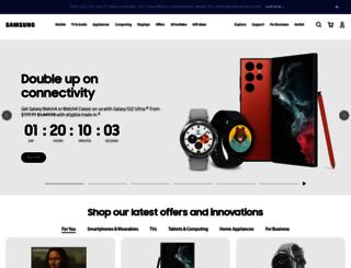 us.samsung.com screenshot
