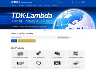us.tdk-lambda.com screenshot