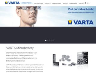 us.varta-microbattery.com screenshot