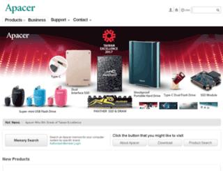 usa.apacer.com screenshot