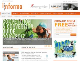 usa.danceinforma.com screenshot