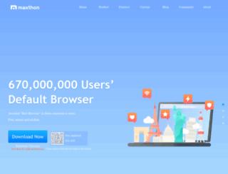 usa.maxthon.com screenshot
