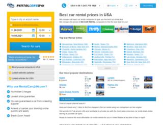 usa.rentalcars24h.com screenshot