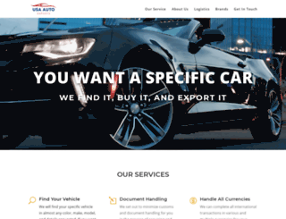 usaautoexports.com screenshot