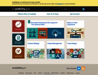 usability.gov screenshot