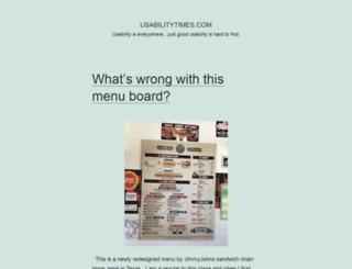 usabilitytimes.com screenshot