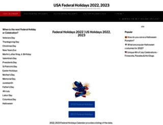 usafederalholidays.com screenshot