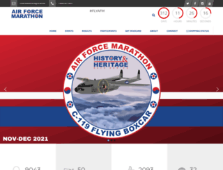 usafmarathon.com screenshot