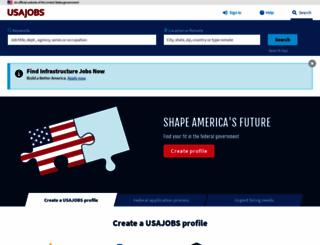 usajobs.com screenshot