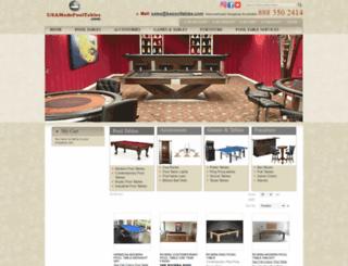 usamadepooltables.com screenshot