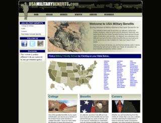usamilitarybenefits.com screenshot