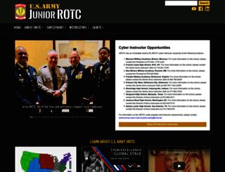usarmyjrotc.com screenshot