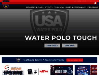 usawaterpolo.org screenshot