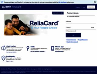 usbankreliacard.com screenshot