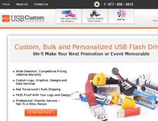 usbcustomflashdrives.com screenshot
