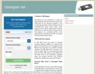 usbrepair.net screenshot