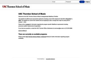 uscmusic.slideroom.com screenshot