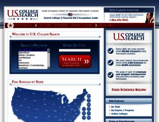 uscollegesearch.org screenshot