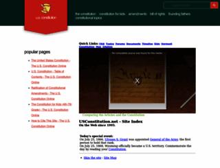 usconstitution.net screenshot