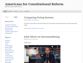 usconstitutionalreform.wordpress.com screenshot