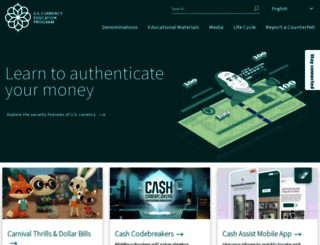 uscurrency.gov screenshot