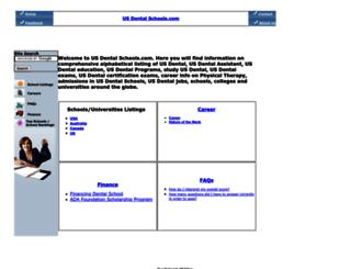 usdentalschools.com screenshot