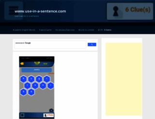 use-in-a-sentence.com screenshot
