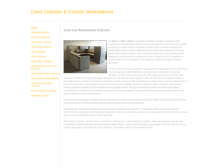 used-cubicles.weebly.com screenshot