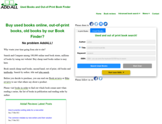 used.addall.com screenshot
