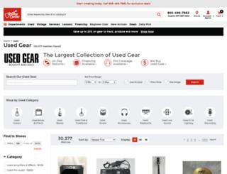 used.guitarcenter.com screenshot